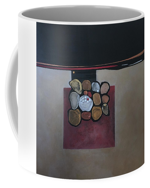 Metallic Coffee Mug featuring the painting Velocity by Marlene Burns