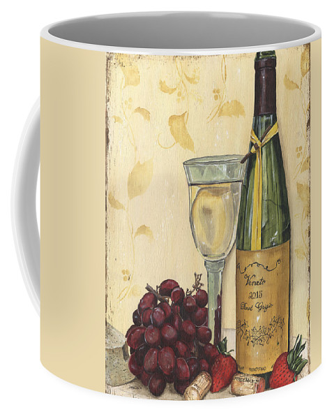 Wine Coffee Mug featuring the painting Veneto Pinot Grigio by Debbie DeWitt