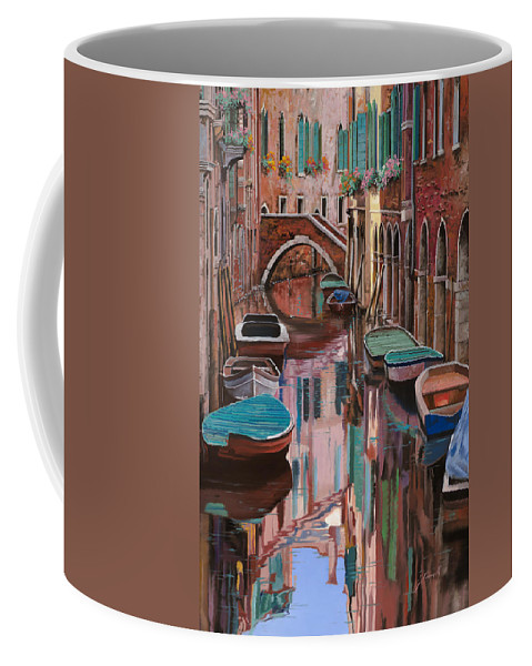 Venice Coffee Mug featuring the painting Venezia A Colori by Guido Borelli