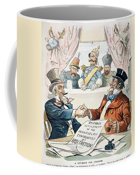 1896 Coffee Mug featuring the photograph Venezuela Boundary, 1896 by Granger