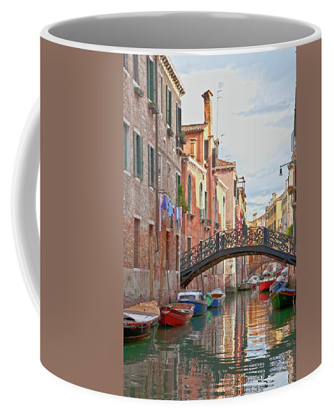 Venice Coffee Mug featuring the photograph Venice Bridge Crossing 5 by Heiko Koehrer-Wagner
