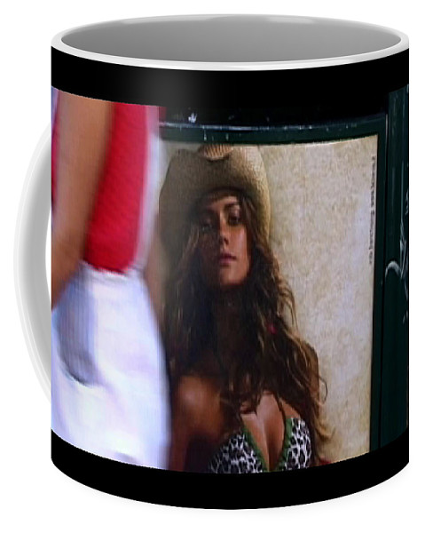 Venice Coffee Mug featuring the photograph Venice Cowgirl by Charles Stuart