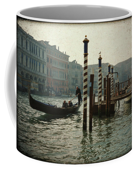 Venice Coffee Mug featuring the photograph Venice Gondola by Marna Edwards Flavell
