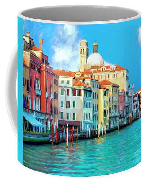 Grand Canal Coffee Mug featuring the painting Venice Grand Canal by Dominic Piperata