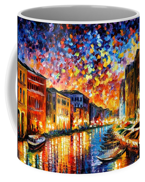 Afremov Coffee Mug featuring the painting Venice - Grand Canal by Leonid Afremov