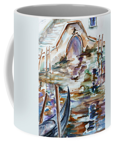 Watercolor Coffee Mug featuring the painting Venice Impression I by Xueling Zou