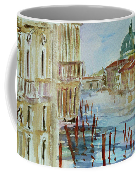 Venice Coffee Mug featuring the painting Venice Impression III by Xueling Zou