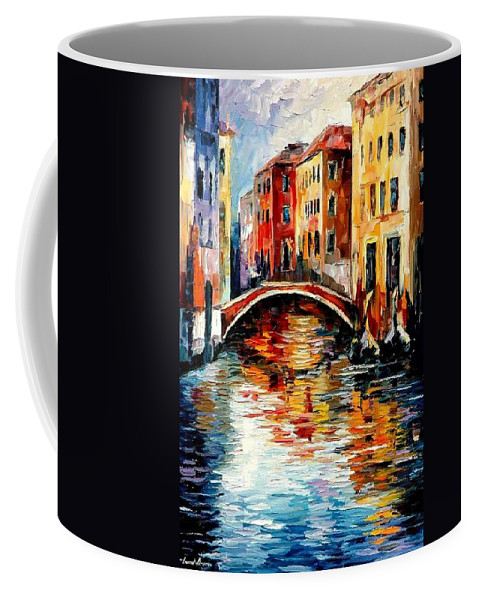Landscape Coffee Mug featuring the painting Venice by Leonid Afremov