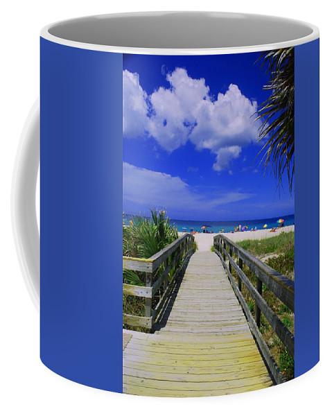 Ocean Coffee Mug featuring the photograph Venice Pier Venice Florida by Gary Wonning