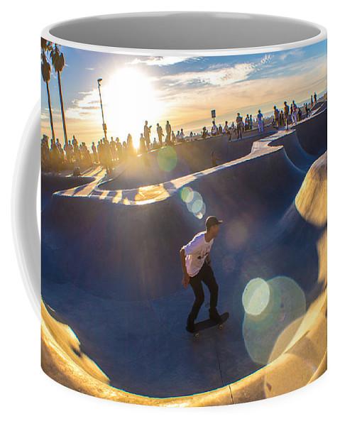 Coffee Mug featuring the photograph Venice Skate Park by Devin Digital