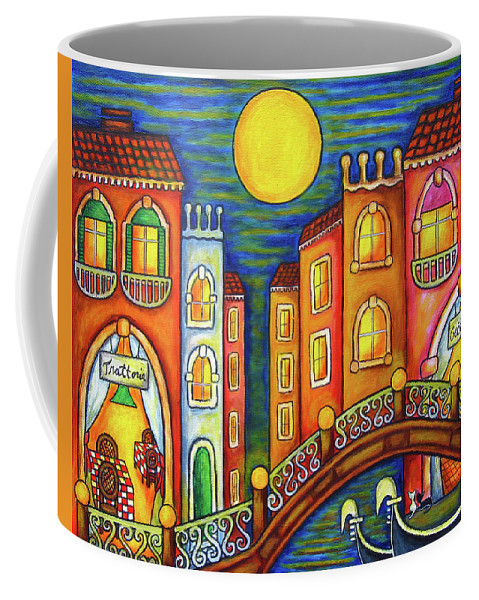Colourful Coffee Mug featuring the painting Venice Soiree by Lisa Lorenz