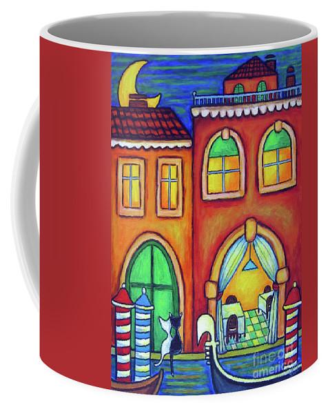 Venice Coffee Mug featuring the painting Venice Valentine II by Lisa Lorenz