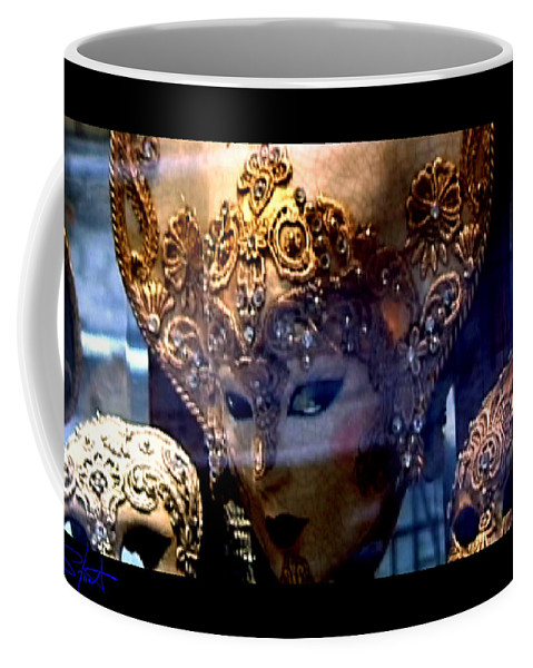 Venice Coffee Mug featuring the photograph Venician Masks by Charles Stuart
