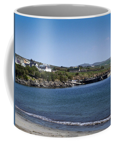 Irish Coffee Mug featuring the photograph Ventry Beach And Harbor Ireland by Teresa Mucha