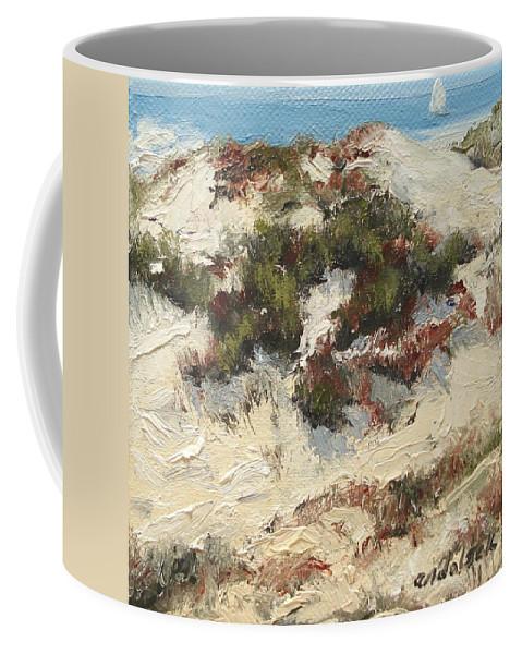 Water Coffee Mug featuring the painting Ventura Dunes I by Barbara Andolsek