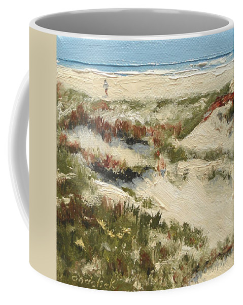 Water Coffee Mug featuring the painting Ventura Dunes II by Barbara Andolsek