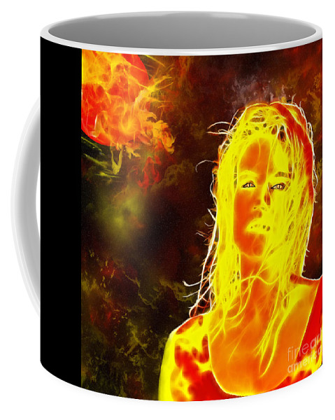 Venus Coffee Mug featuring the painting Venus Is Home by Methune Hively