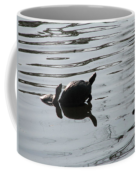 Turtle Coffee Mug featuring the photograph Vereen Turtles by Kelly Mezzapelle