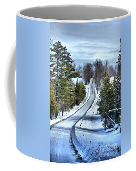 Vermont Coffee Mug featuring the photograph Vermont Country Landscape by Deborah Benoit