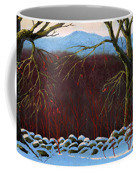 Landscape Coffee Mug featuring the painting Vermont Stone Wall by Frank Wilson