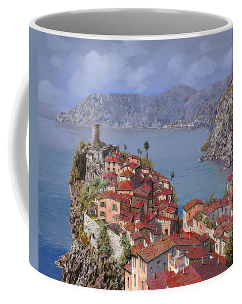 Seascapes Coffee Mug featuring the painting Vernazza-cinque Terre by Guido Borelli
