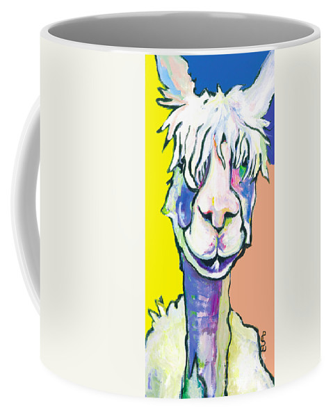 Mountain Animal Coffee Mug featuring the painting Veronica by Pat Saunders-White