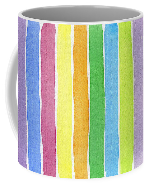 Canvas Prints Coffee Mug featuring the painting Vertical Rhythm by Norma Appleton