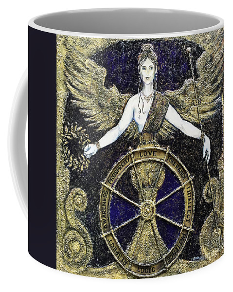 Coffee Mug featuring the painting Vertues by Elena Markina