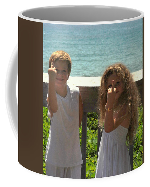 Kids Coffee Mug featuring the photograph Very Naughty Angels by Rob Hans