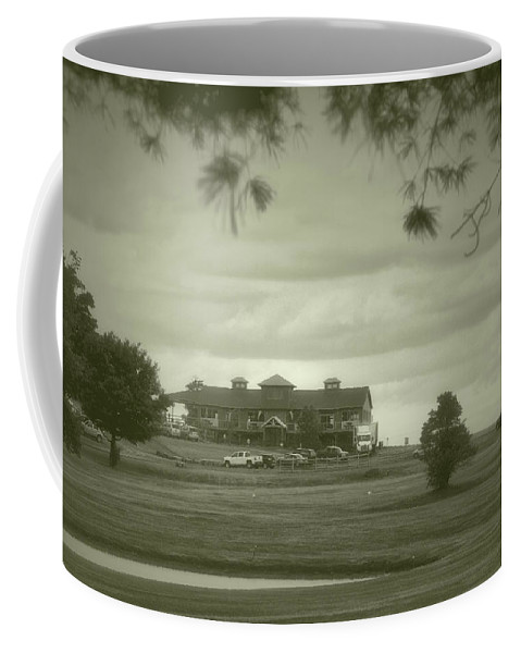 Tully New York Coffee Mug featuring the photograph Vesper Hills Golf Club Tully New York Antique 02 by Thomas Woolworth