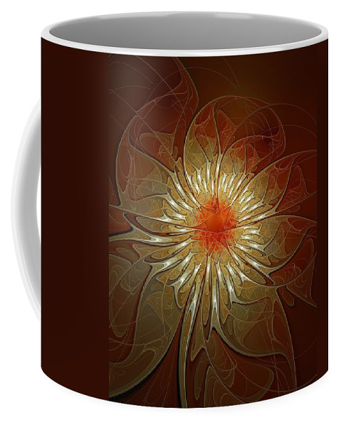 Digital Art Coffee Mug featuring the digital art Vibrance by Amanda Moore