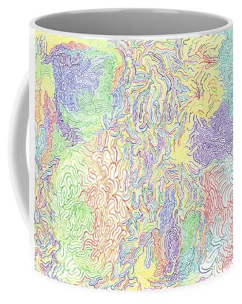 Mazes Coffee Mug featuring the drawing Vibrations by Steven Natanson
