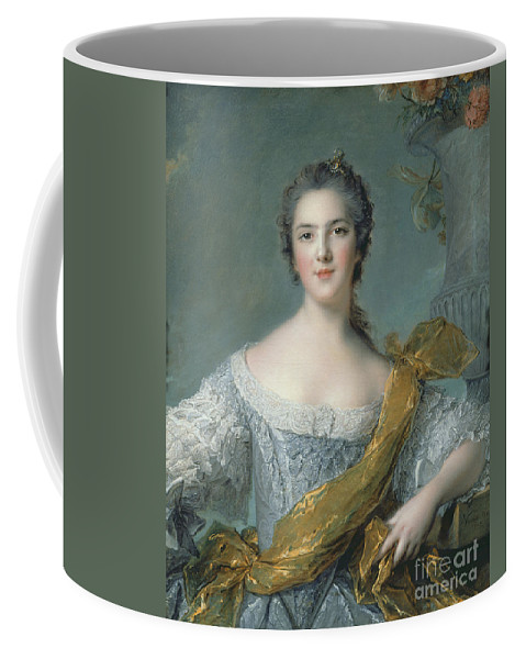 Victoire Coffee Mug featuring the painting Victoire De France At Fontevrault by Jean Marc Nattier