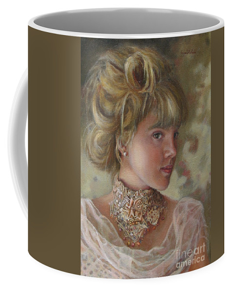 Figurative Art Coffee Mug featuring the painting Victorian Beauty by Portraits By NC