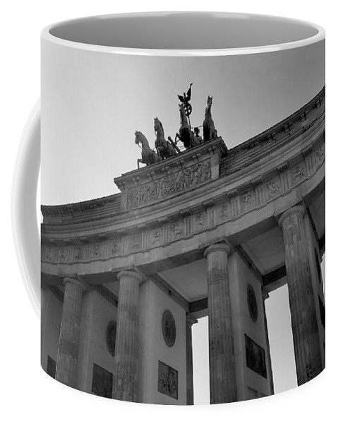 Brandenburg Gate Coffee Mug featuring the photograph Victory Of Brandenburg Gate by Two Small Potatoes