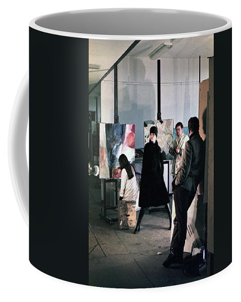 Wien Coffee Mug featuring the photograph Vienna Fashion Shoot 1968 by Lee Santa