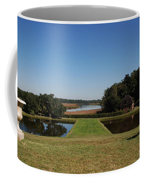 Photography Coffee Mug featuring the photograph View Down To The Ashley River At Middleton Place Plantation Charleston by Susanne Van Hulst