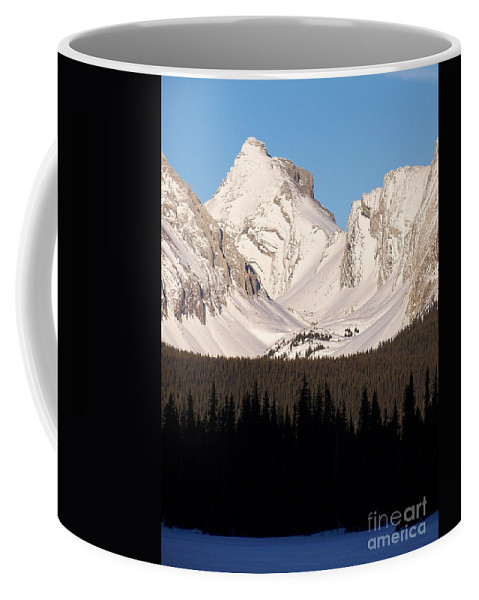 Scenic Coffee Mug featuring the photograph View From A Frozen Lake by Greg Hammond