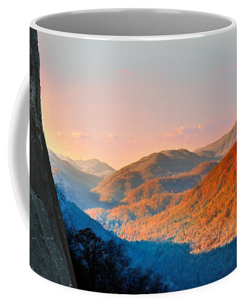 Landscape Coffee Mug featuring the photograph View From Chimney Rock-north Carolina by Steve Karol