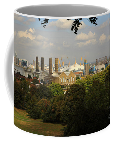 Architecture Coffee Mug featuring the photograph View From Greenwich Park by Deborah Benbrook