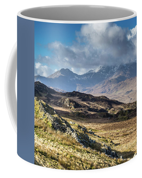 Moel Siabod Coffee Mug featuring the photograph View from Moel Siabod, Snowdonia, North Wales by Anthony Lawlor