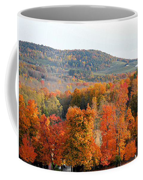 View From Olana Coffee Mug featuring the painting View From Olana 4 by Jeelan Clark