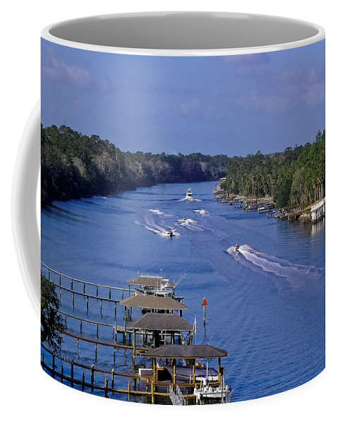River Coffee Mug featuring the photograph View From The Bridge Of Lions by DigiArt Diaries by Vicky B Fuller