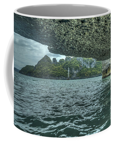 Michelle Meenawong Coffee Mug featuring the photograph View From The Cave by Michelle Meenawong