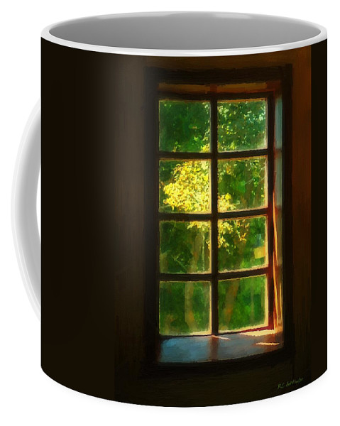 Autumn Coffee Mug featuring the painting View From The Orwell Corner Church by RC DeWinter