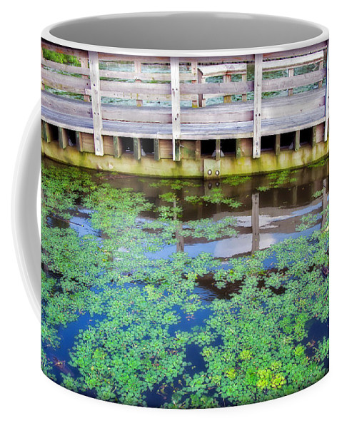 River Coffee Mug featuring the photograph View From The Pier by Madeline Ellis