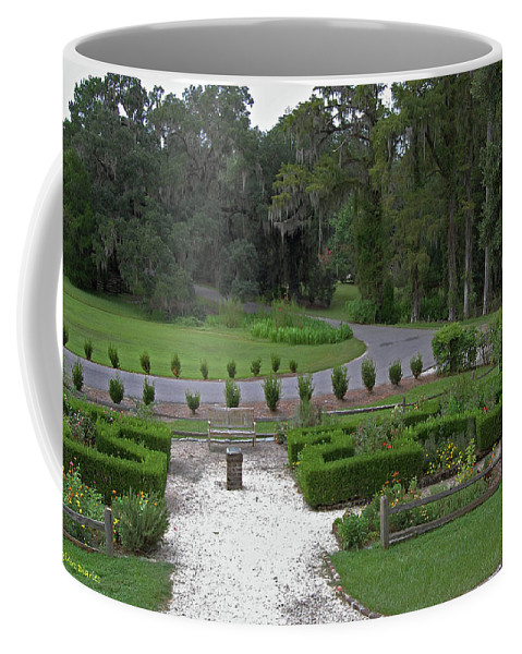 Plantation Coffee Mug featuring the digital art View From The Porch by DigiArt Diaries by Vicky B Fuller