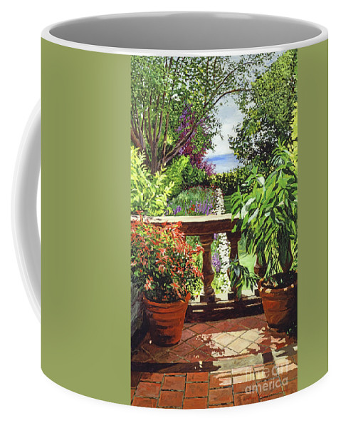 Gardens Coffee Mug featuring the painting View From The Royal Garden by David Lloyd Glover