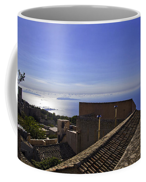 Rooftop Coffee Mug featuring the photograph View From The Top In Sicily by Madeline Ellis