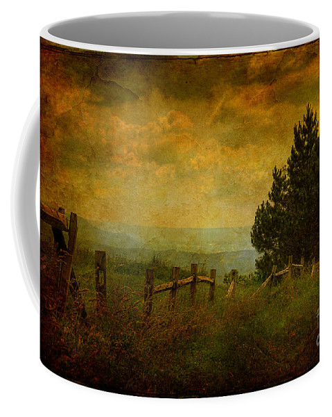 Fence Coffee Mug featuring the photograph View From The Top by Lois Bryan